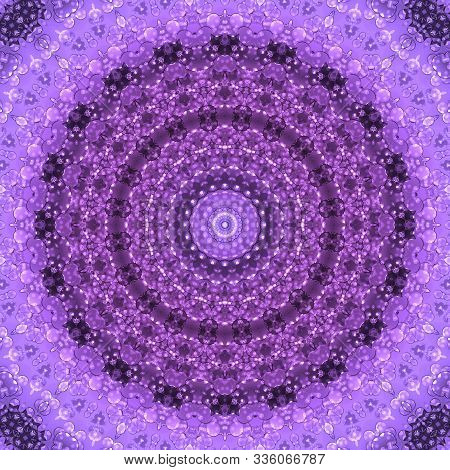 Seamless Mandala Shimmer Confetti Party Pattern Background