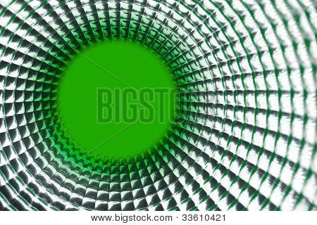 Round Green Point Background