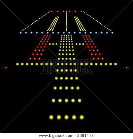 Runway Lights At Night