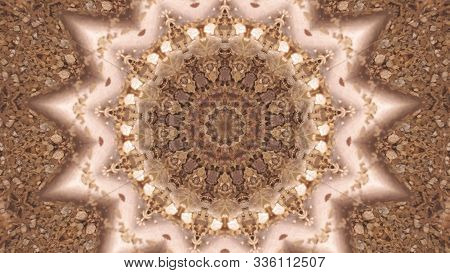 Abstract Unique Kaleidoscope Background. Beautiful Kaleidoscope Seamless Pattern. Seamless Kaleidosc