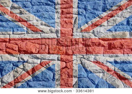 Union Jack on Rock Wall