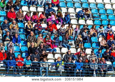 Jerez De La Frontera, Spain - Feb 04: Lots Of People Seeing The Formula One Training Session On The