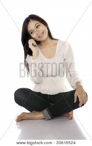 Talking Via Cellphone