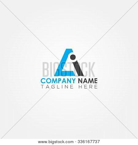Initial Letter Ai Simple Logo Vector Template. Simple Ai Letter Logo Design. Ai Font Type Logo.