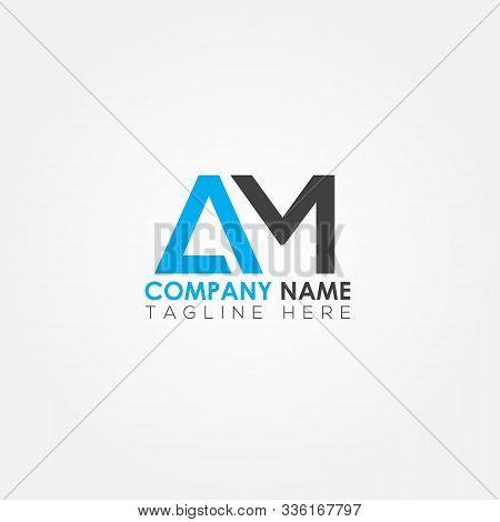 Initial Letter Am Simple Logo Vector Template. Simple Am Letter Logo Design. Am Font Type Logo.