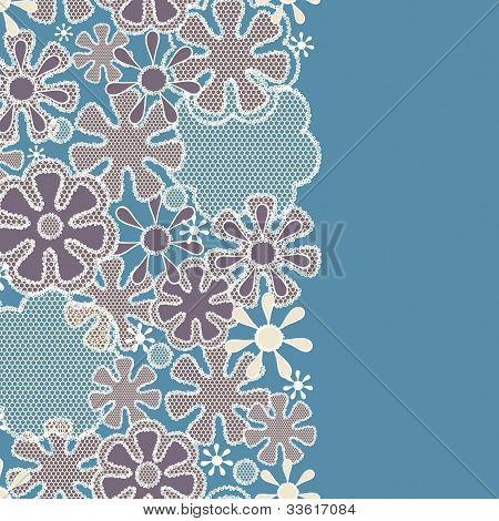 Seamless abstract lace floral pattern-model for design of gift packs patterns fabric wallpaper web sites etc. poster
