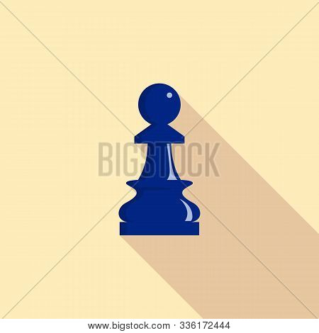 Pawn Piece Icon. Flat Illustration Of Pawn Piece Vector Icon For Web Design