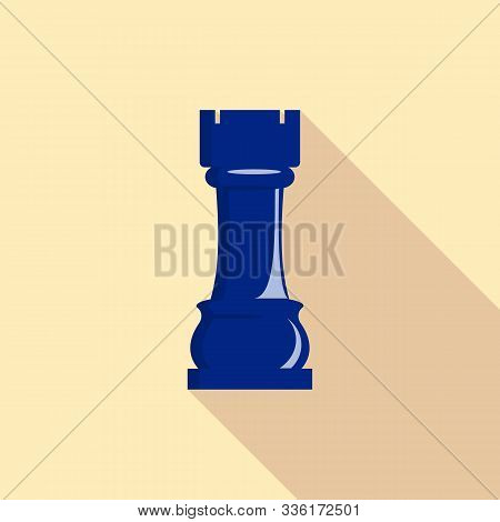 Rook Piece Icon. Flat Illustration Of Rook Piece Vector Icon For Web Design