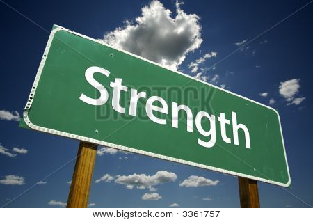 Strength Road Sign