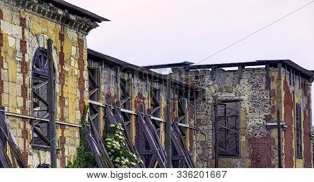 Coupvray, Seine-et-marne, Ile-de-france, France - May 25: Ruined Coupvray Castle (chateau De Coupvra