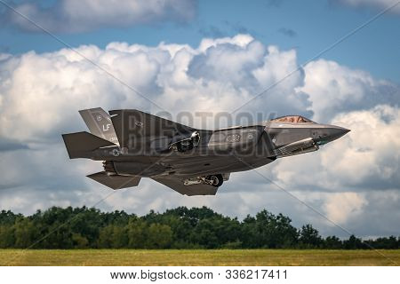 New Windsor, Ny - August 2, 2019: The Lockheed Martin F-35 Lightning Ii From Stewart International A