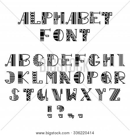 Vector With Set Lowercase Letters, Punctuation Marks, Which Are Collected In English Alphabet. Used