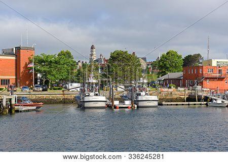 Gloucester, Ma, Usa - Jul 25, 2015: Fishing Boat At Port Of Gloucester City, Gloucester, Massachuset