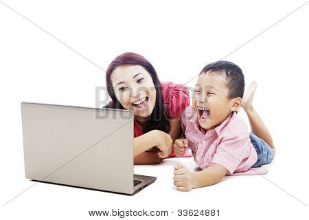 Happy Mother And Her Son