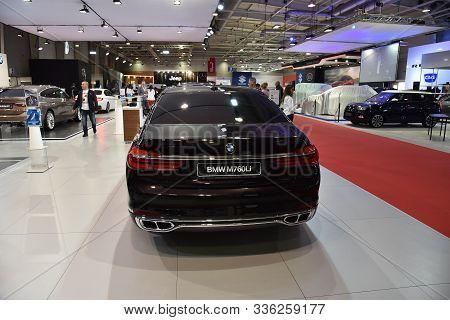 Sofia, Bulgaria, October 13-2017: Bmw 7-er M760Li At Sofia Motor Show