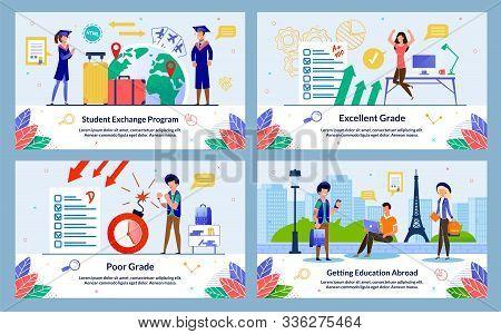 Banner, Student Exchange Program, Poor Grade. Excellent Grade, Getting Education Abroad. Graduates I