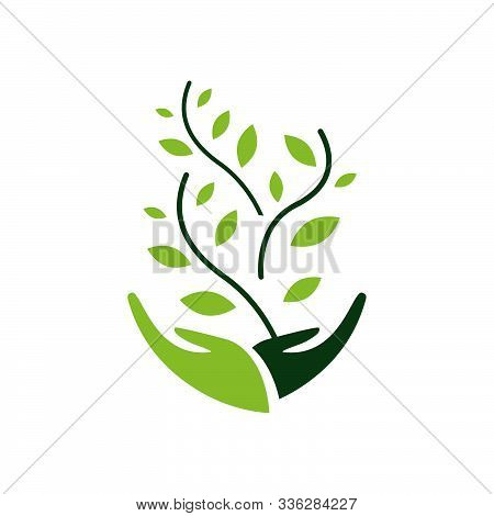 Environmental Sustainability Logo Vector Illustration. Sign Of Earth Wildlife Conservation Symbol. E