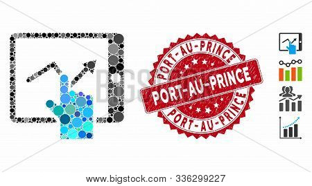Mosaic Tap Trend On Pda Icon And Rubber Stamp Seal With Port-au-prince Phrase. Mosaic Vector Is Crea