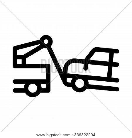 Escape Machine Truck Icon Vector. Outline Escape Machine Truck Sign. Isolated Contour Symbol Illustr