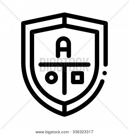 Academy Emblem Logo Icon Vector. Outline Academy Emblem Logo Sign. Isolated Contour Symbol Illustrat
