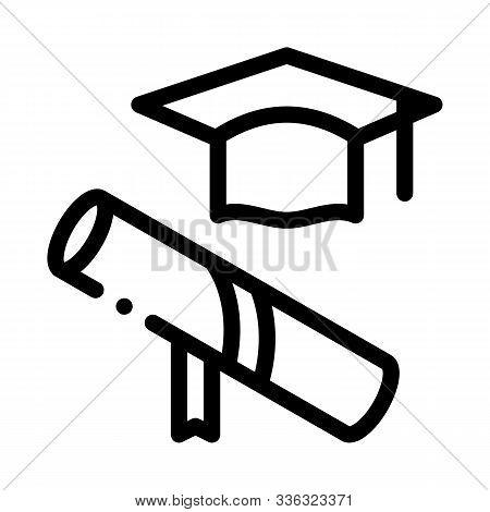 Academy Graduate Attributes Icon Vector. Outline Academy Graduate Attributes Sign. Isolated Contour