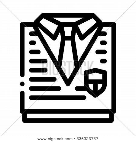 Academy Uniform Concept Icon Vector. Outline Academy Uniform Concept Sign. Isolated Contour Symbol I