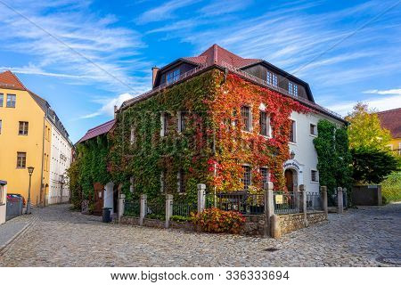 Bautzen, Germany - October 10, 2019: Beautiful Streets Of The Historical Part Of The Old Town In A F