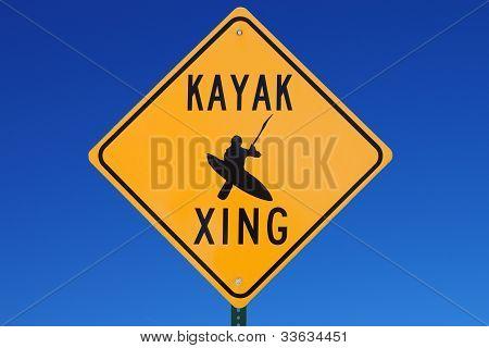 Kayak Crossing Sign