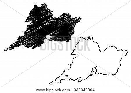 Clare County Council (republic Of Ireland, Counties Of Ireland) Map Vector Illustration, Scribble Sk