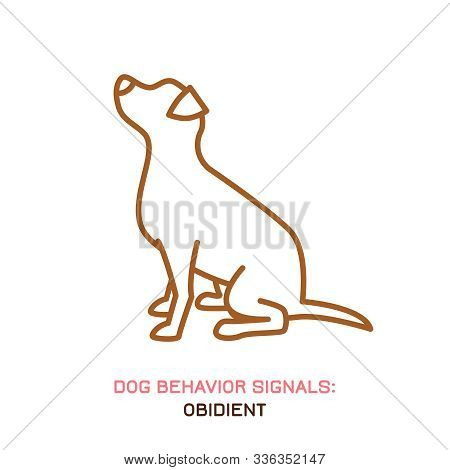 Dog Behavior Icon. Domestic Animal Or Pet Language. Peaceful Dog. No Threat From My Side. Doggy Reac