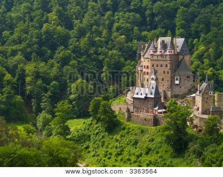 fairy castle in the forest Burg Eltz in Germany poster