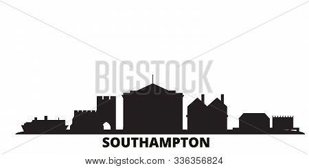 United Kingdom, Southampton City Skyline Isolated Vector Illustration. United Kingdom, Southampton T