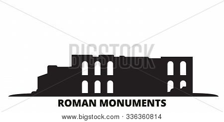 Germany, Trier, Roman Monuments, Cathedral Of St. Peter And Church Of Our Lady City Skyline Isolated