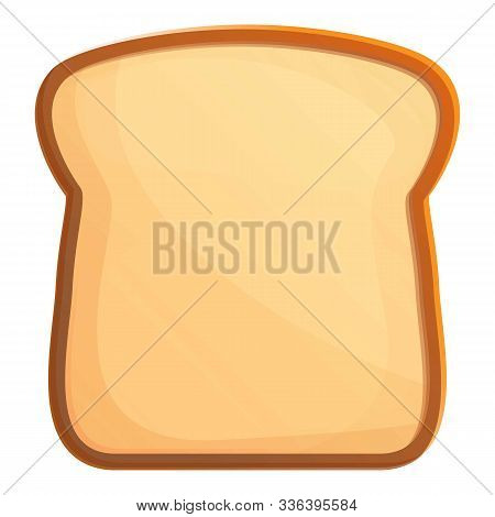 Bread Toast Icon. Cartoon Of Bread Toast Vector Icon For Web Design Isolated On White Background