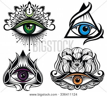 All Seeing Eye Symbol. Vision Of Providence. Tattoo Eyes