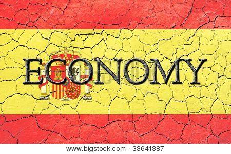 Spanish Economy Flag