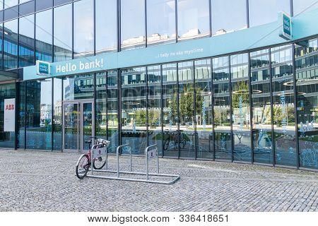 Ostrava, Czech Republic - August 29, 2019: Hello Bank! In Ostrava.