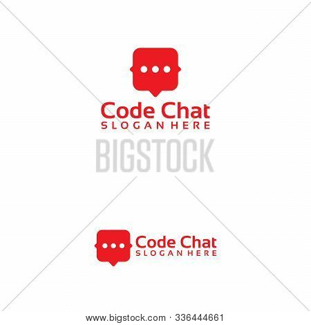 Simple Communications, Chat, Consult Logo Vector Template