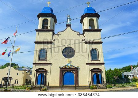 Our Lady Of Good Voyage Church Is A Historic Spanish Revival Style Church At 13 Prospect Street In D