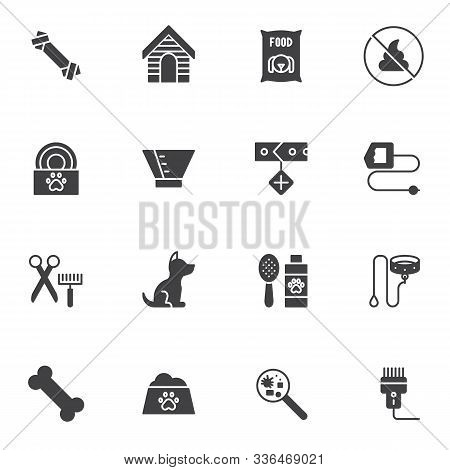 Pet Shop Vector Icons Set, Modern Solid Symbol Collection, Filled Style Pictogram Pack. Signs, Logo