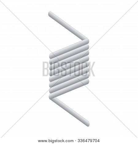 Flexible Coil Icon. Cartoon Of Flexible Coil Vector Icon For Web Design Isolated On White Background