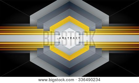 Abstract Vector Background. Geometric Hexagon Shape Texture Overlapping . Layout Design