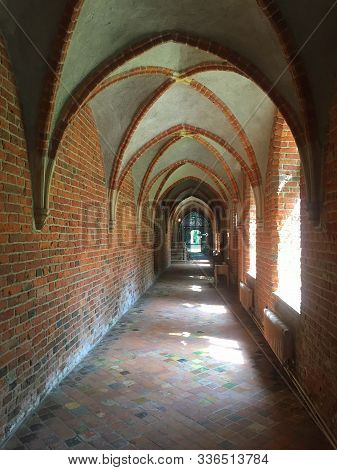 Ter Apel.july-21-2019. Cloister In The Museum Monastery In Ter Apel. The Netherlands