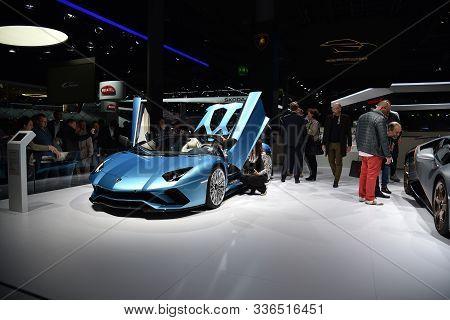 Frankfurt, Germany, September 13-2017: Lamborghini Aventador At Iaa 2017