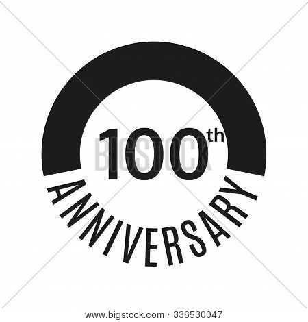 100th Anniversary Icon. 100 Years Celebrating Or Birthday Logo. Vector Illustration.