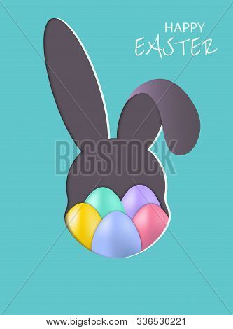 Easter Bunny, postcard, banner for Easter vector. Happy Easter, easter bunny, easter background, easter banners, easter flyer, easter design,easter with flowers on red background, Copy space text area, vector illustration.