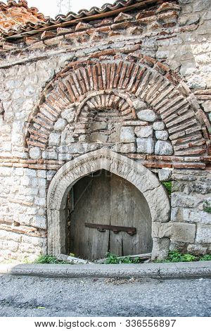 Entrance To The Old Ahmet Pasha Madrasah In Kastoria. Greece