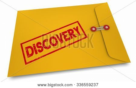 Discovery Learn Uncover New Information Envelope 3d Illustration