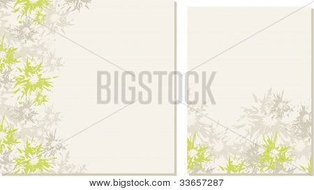 Spring-summer wedding templates (set 1)