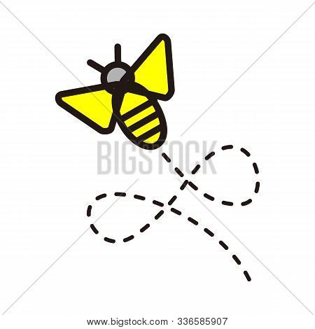 Bee Logo Template Vector Icon Illustration Design, Hive Logotype Concept, Bee Logo Design, Bee Logo,